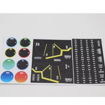 111 teiliges Simracing Stickerset Densu GT-X