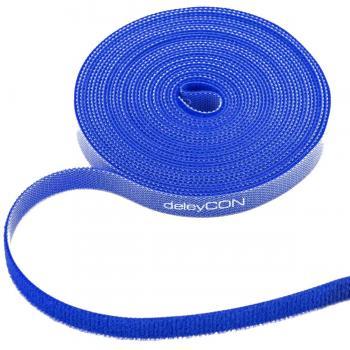 10m Klettband 10mm breit - blau